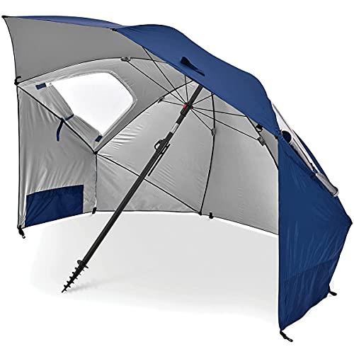 EANSSN Paraguas De Sol Multifuncional Al Aire Libre, Paraguas De Pesca, Protector Solar Plateado Y Protección UV Sun Paraguas, Adecuado para La Playa, Camping, Eventos Deportivos