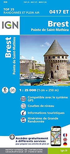 Brest - Pointe de Saint-Mathieu 1:25 000