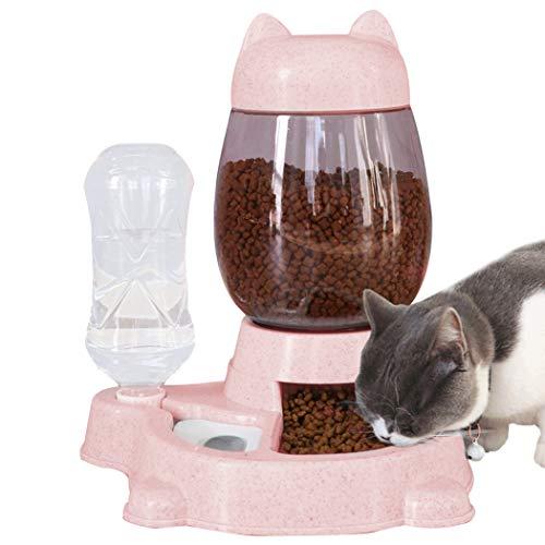 Joyibay Alimentador para Mascotas Dispensador De Comida para Gatos Automático Antideslizante A Prueba De Salpicaduras
