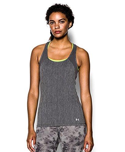 Under Armour Damen Fitness T-Shirt und Tank Heatgear Shirts & Tanks, Carbon Heather, M