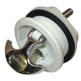 Whitecap S-0226WC T-Handle Latch with Keyed Lock - White