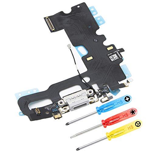 MMOBIEL Connettore Dock di Ricambio Compatibile con iPhone 7 (Bianco) Porta per Ricarica Cavo Flessibile incl cacciaviti