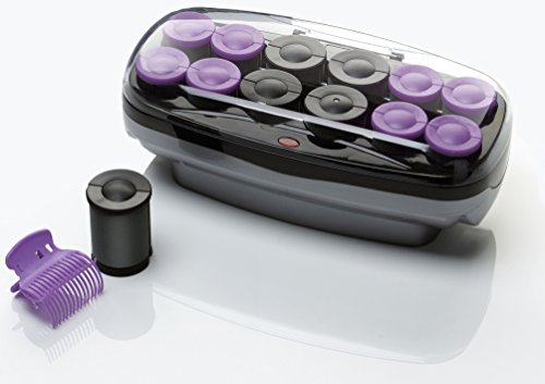 Conair Xtreme Instant Heat Ceramic Hot Rollers Bonus Super Clips Include, Purple, 1 Count