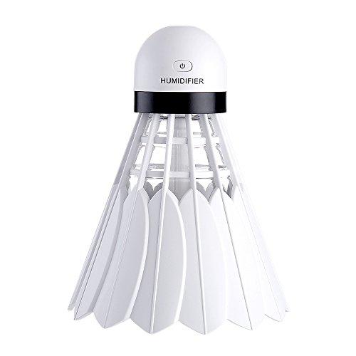 LUFEILI Neue Badminton Luftbefeuchter Bunte kleine Nachtlicht USB Mini kreative Desktop-Rehydrierung Luftreiniger