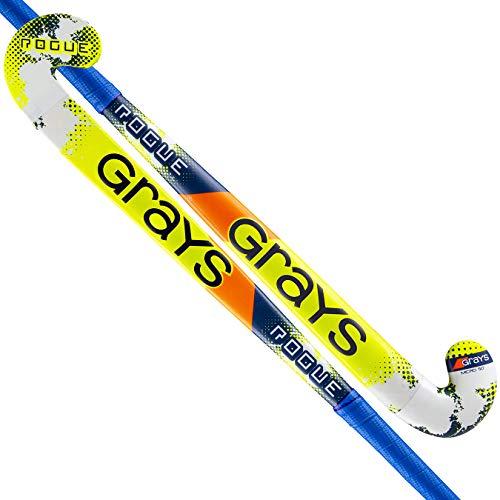 GRAYS Rogue Hockeyschläger Gras, Juventud Unisex, 202304235, blau/gelb, 35