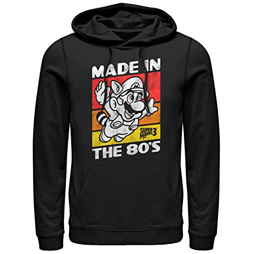 Men's Made in the 80s Hoodie, Super Mario 3 Theme, XL to 3XL