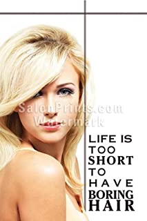 Global Printing Services Hair Salon Poster - Beautiful Model Blonde Hair White Background Quote Poster || HSD-116 (36in x 54in, Poster (Polymatte))