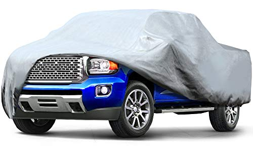 Leader Accessories Pick Up Truck Cover 3 Layer Dustproof Windproof UV Protection Car Cover Up to 20'8""