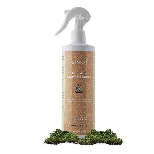 naukua 500ml Abono Líquido Orgánico para Bonsais - Mejora la Salud, Fuerza del Bonsai y Fertilidad del la Tierra - 100% Fertilizante Natural - Spray Listo para Usar