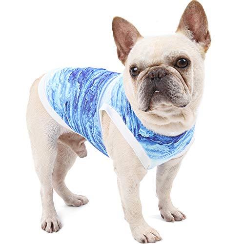 Esenlong Chaleco de refrigeración para perros, arnés de alivio de la ansiedad para mascotas, camisa de perro, suave para perros, caminar, caza, deporte