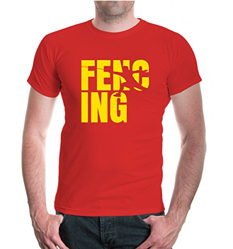 T-Shirt Fencing Type-XXL-Red-Sunflower