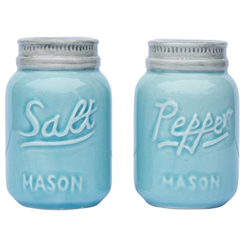 Vintage Mason Jar Salt & Pepper Shakers by Comfify - Adorable Decorative Mason Jar Decor for Vintage, Rustic, Shabby Chic...