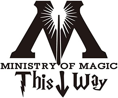 Kaariss DIY PVC This Way to The Ministry of Magic Toilet Decal Sticker Vinyl Carving Decal Sticker product image