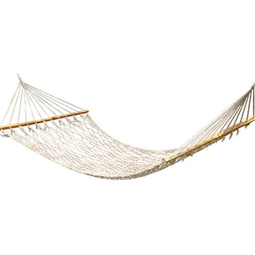 HXF- Hangmat outdoor huis swing indoor net bed houten stok hangmat anti-rollover stal 200 x 100 cm.