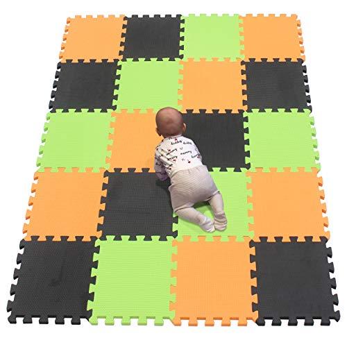 YIMINYUER Alfombra puzles para Bebe Puzzle Infantil Suelo Piezas Goma eva ninos de Suelo Grande Infantiles Naranja Negro Pastoverde R02R04R15G301020