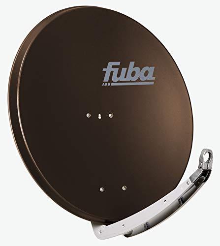 Fuba DAA 850 B braun Aluminium Satellitenschüssel 85 cm - Sat-Antenne/Sat-Spiegel mit Doppeltragarm, LNB-Halterung aus Alu Druckguss