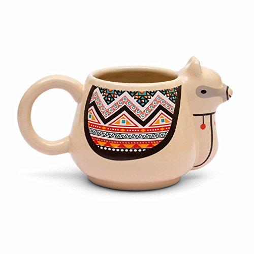 Thumbs Up LLAMAMUG Tazza Lama, Ceramica, Multicolore, 10 x 9.5 x 16.5 cm