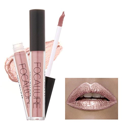 Lippenstifte, OVERMAL FOCALLURE Lippenstift Kosmetik Frauen Lippen Matte Metallisch Lip Gloss Beauty Lipstick (A)
