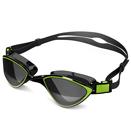 Swim Goggles for Adult Men Women - Best for Lap Swimming, Training in Pool, Open Water, Triathlon, Cool Competitive Swim Equipment for Youth, Kids Over 14, No-Leak, Anti-Fog with UV Protection Lenses