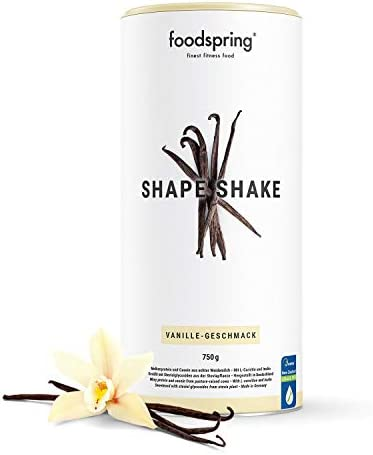 foodspring Shape Shake, 750g, Banana, Your Fitness-Friendly Protein Milkshake