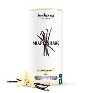 foodspring Shape Shake, Sabor Vainilla, 750g, Batido saciante, 100% proteína de suero de leche en polvo, Enriquecido con L-carnitina (quema grasas)
