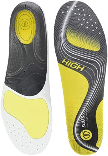 SIDAS Sohlen 3Feet Activ' High-Einlegesohlen, Yellow/Black, M : 39-41, CSE3FACTIV15