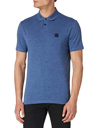 BOSS Mens Pemew 10234038 01 Polo Shirt, Open Blue489, XXL