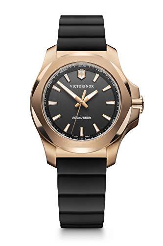 Victorinox I.N.O.X. V Reloj de Acero Inoxidable/Caucho de Cuarzo analógico Negro de fabricación Suiza para Mujer 241808