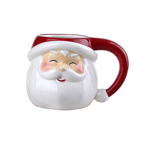 """Comfy Hour 3"""" Winter Holiday Christmas Santa Mug, Cup for One"""