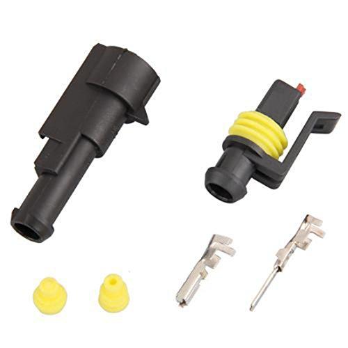 5 kits 1 Pin Way étanche Fil connecteur Plug Set Voiture Camion de Sealed Plastique électrique automatique