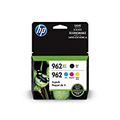 Count on professional-quality documents with the HP 962XL black and 962 Cyan, Magenta and Yellow Original ink Cartridge 4-Pack. Genuine HP ink cartridges provide impressive reliability and standout results, so you'll get the performance your HP offic...
