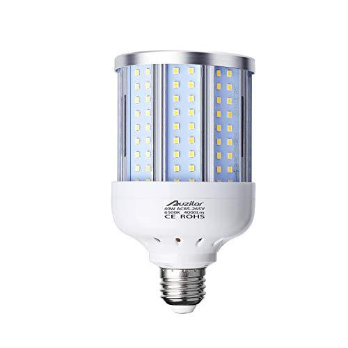 40W LED Corn Light Bulb for Indoor Large Area, E26 4000Lm 6500K Cool White,Super Bright Daylight LED Corn Bulb for Garage Barn Workshop Warehouse Factory Porch Backyard High Bay, 85V-265V