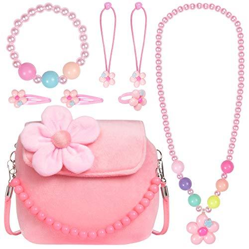Ouinne Handtasche Halskette Armband Ring Haar Klammern Einstellen Set Modeschmuck Party Favors Geschenk