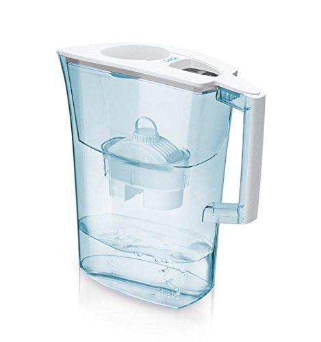 Jarra para filtrar el agua del grifo y mejorar su sabor- Laica PRIME LINE J51-AC color azul capacidad 3 litros, incluye 1 filtro bi-flux que reduce la cal y el cloro y dura 150 litros o 1 mes.