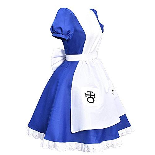 Charous Anime Alice: Madness Returns Cosplay Kostüm, Lolita Maid Kleid für Frauen verwendet Halloween Weihnachten Karneval Thema Party Cosplay Full Set