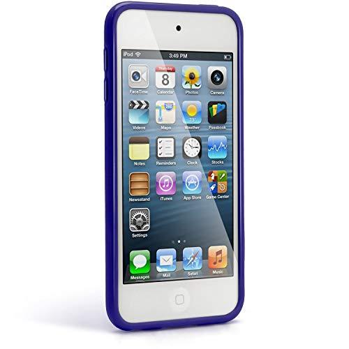 iGadgitz U2026 TPU Funda y Protector Pantalla Adecuado para Apple iPod Touch 5/6/7th Gen -Azul