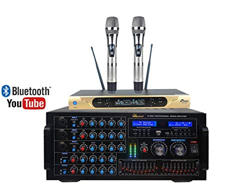 Check Out This Home Karaoke Combo IDOLmain 6000W IP-5900 Mixing Amplifier Plus UHF-626 Dual Wireless...