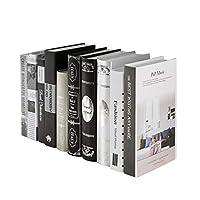 Healifty 装飾的な本のどか本本棚スタックホーム本棚ディスプレイホームシェルフライブラリホームオフィスデコレーション(ランダムパターン)