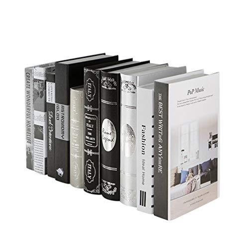 Healifty Libros Decorativos Libros de imitación llenan una estantería Pila estantería en casa exhiben estantería en el hogar Biblioteca decoración de la Oficina en casa (patrón Aleatorio)
