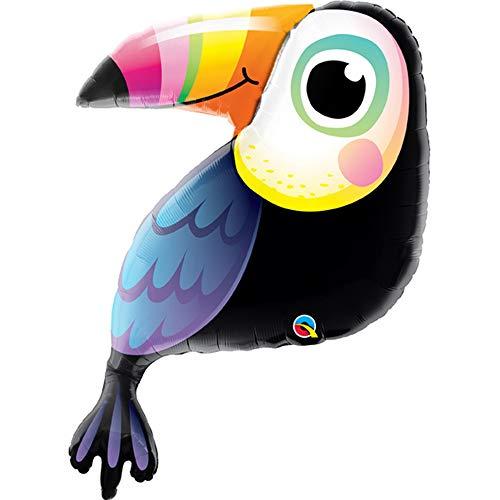 Qualatex - Supershape - Palloncino di stagnola colorato fantasia tucano - circa 104 cm (Taglia unica) (Multicolore)