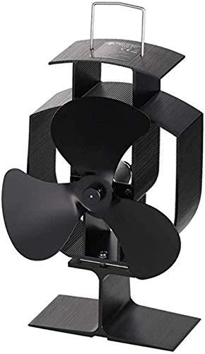NAYY Hitze Powered 3 Blatt Herd Fan Holzpellets Kamin Fan Silent-Operational Holzofen Fan Effektive Wärmezirkulation Eco Friendly