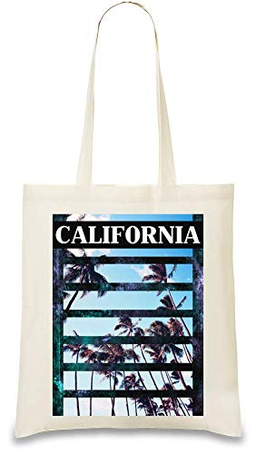 Josh God Apparel Kalifornien - california Custom Printed Tote Bag| 100% Soft Cotton| Natural Color & Eco-Friendly| Unique, Re-Usable & Stylish Handbag For Every Day Use| Custom Shoulder Bags By