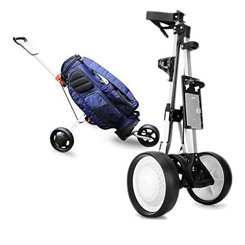 Carro de golf Junior Plegable profesional de 3 ruedas de carro de golf deportes al aire libre del recorrido del aeropuerto talón de equipaje Carrier Cesta Cochecito herramienta Afinación Campo de Sumi