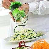InnovaGoods Spiralicer Cortador de Verduras en Espiral Mini, ABS, Verde, 8x8x9 cm