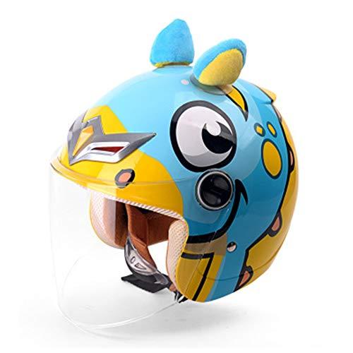 Kinderfiets helm, Elektrische auto kind helm motorfiets kind helm jongen meisje vier seizoenen cartoon baby halve helm