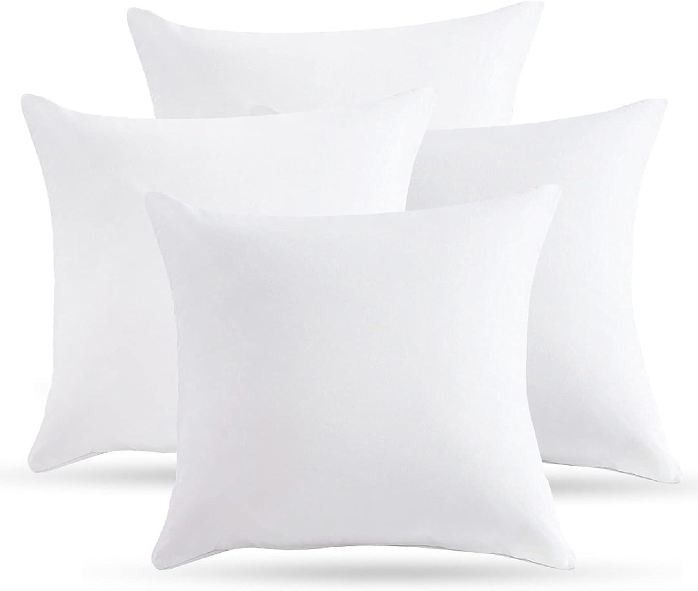 Super Price reduction intense SALE Emolli Throw Pillow Insert Set - Polyest Down 4 Pack Alternative