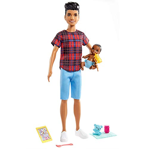 Mattel - Barbie Skipper Babysitters Inc. Doll & Accessories, Brunette Boy with Sculpted Hair
