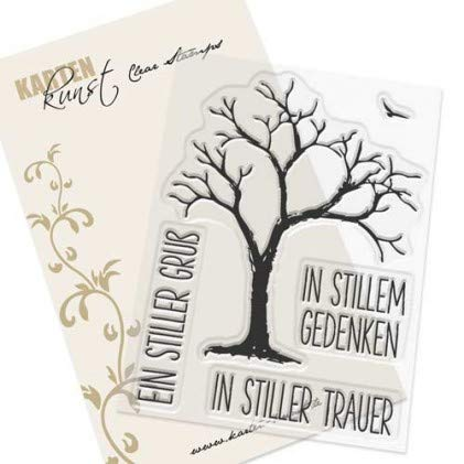 Karten-Kunst-Stempel Clear Stamp Stempelgummi - Trauerbaum