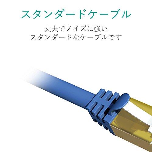 エレコムLANケーブルCAT7準拠2mツメが折れないブルーメタリックLD-TWST/BM20