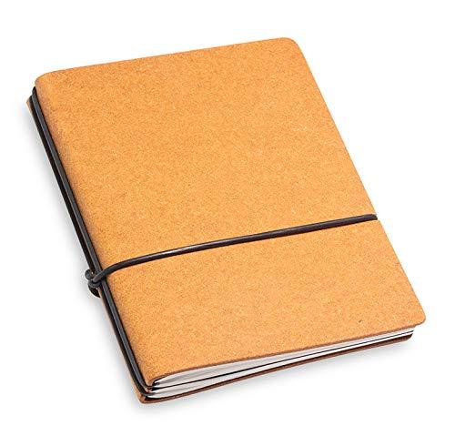 A7, revolutionäres, kleines X17-Notizbuch/Personal Organizer! Recyceltes Leder, hell braun ; Inhalt: 2 Notizhefte (blanko, liniert) + Buchband; austauschbar=nachhaltig! 17 Jahre Garantie*